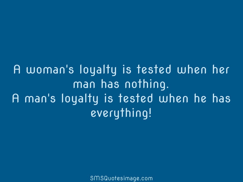 Wise A woman's loyalty is tested when
