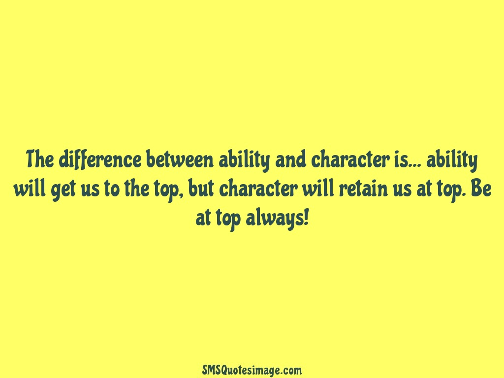 Wise Ability and character