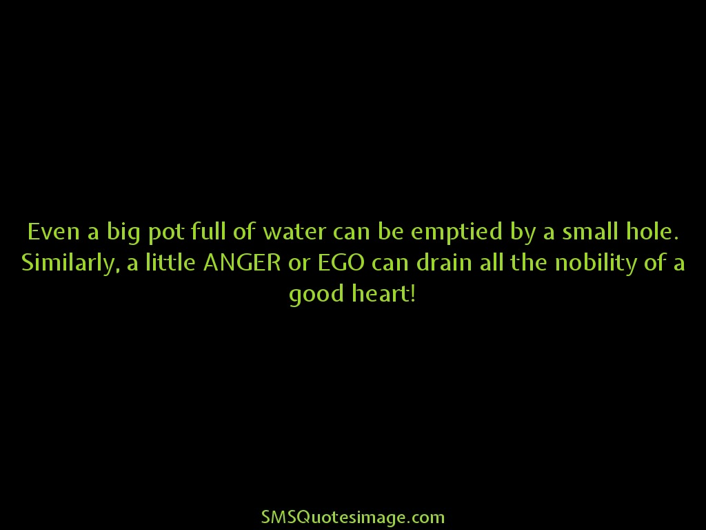 Wise ANGER or EGO can drain all