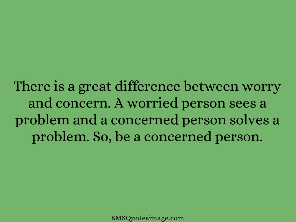 Wise Difference between worry