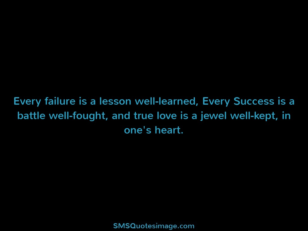 Wise Every failure is a lesson