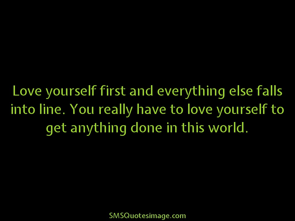 Wise Love yourself first