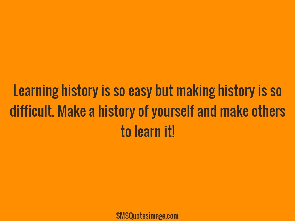 Wise Make a history of yourself
