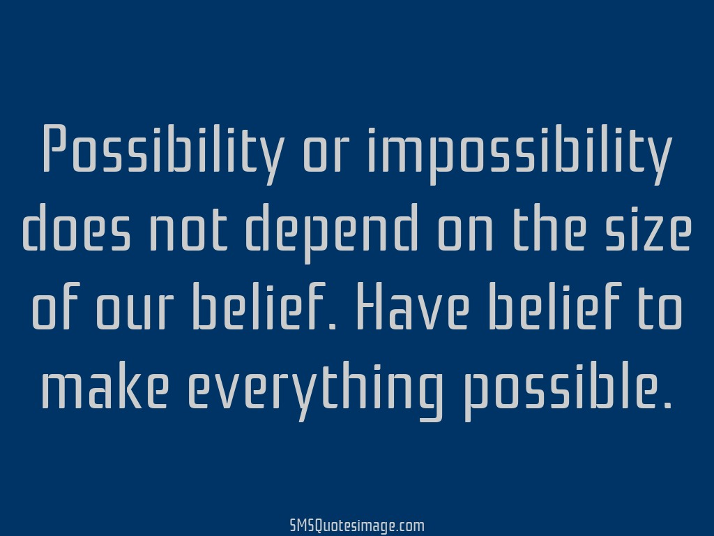 Wise Possibility or impossibility