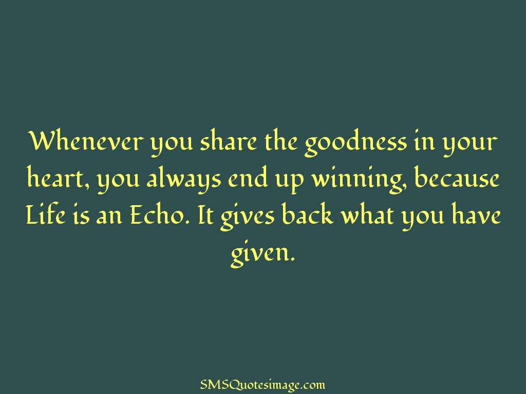 Wise Whenever you share the goodness