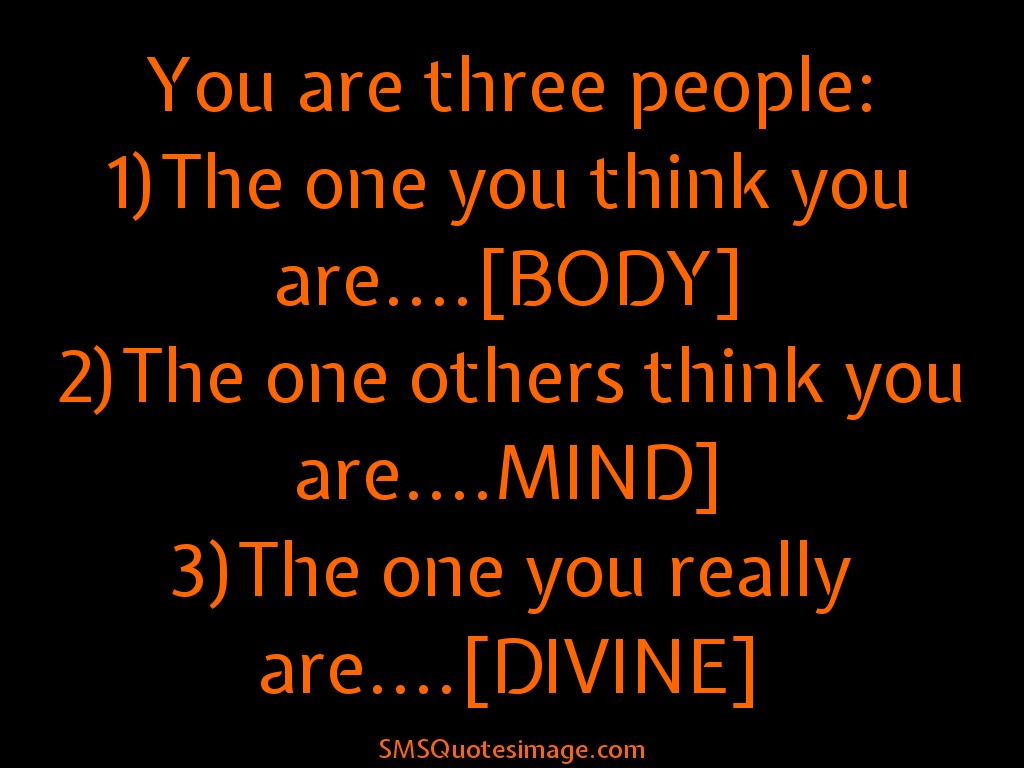 Wise You are three people