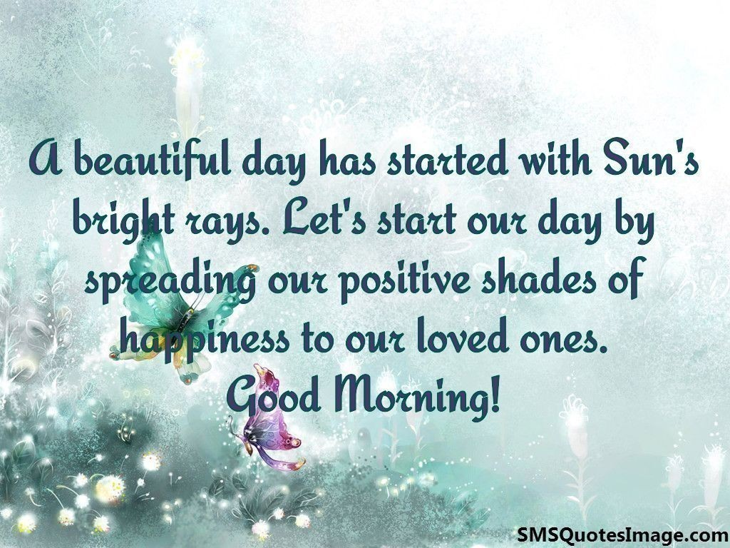 A Beautiful Day Has Started With Good Morning Sms Quotes Image