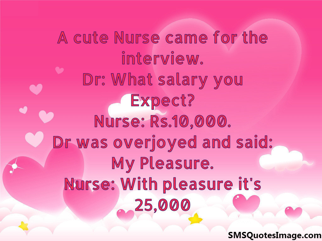 A cute Nurse came for the interview