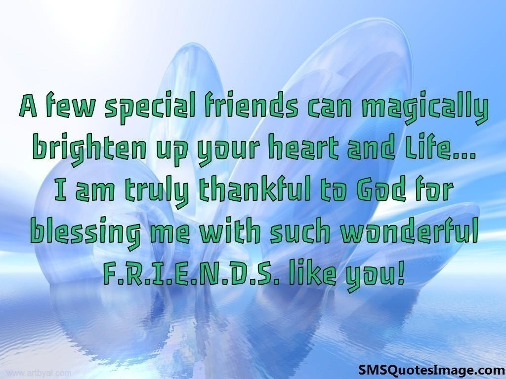 A few special friends can magically