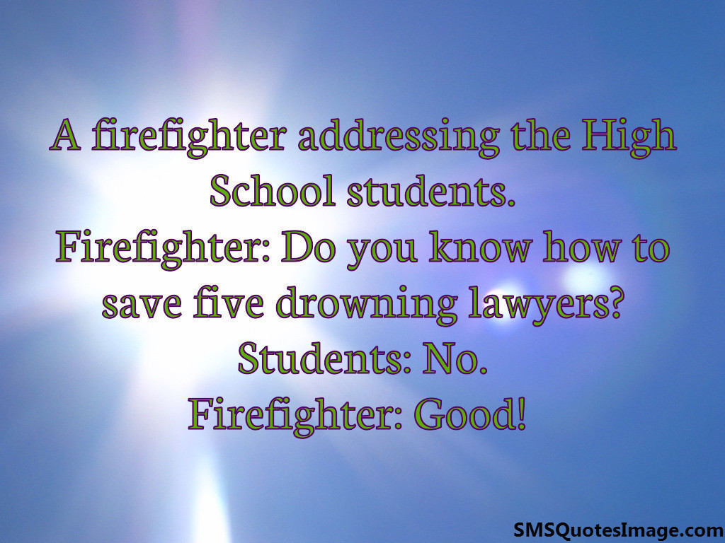 A firefighter addressing the