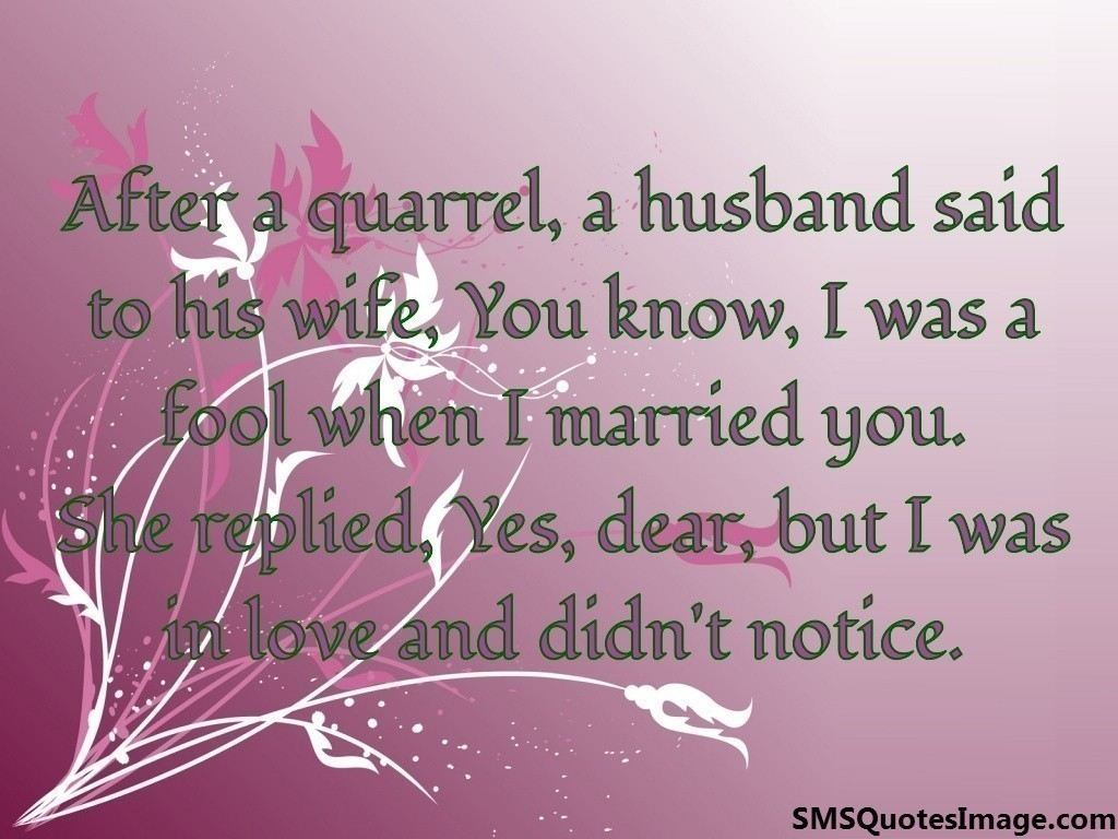 A husband said to his wife