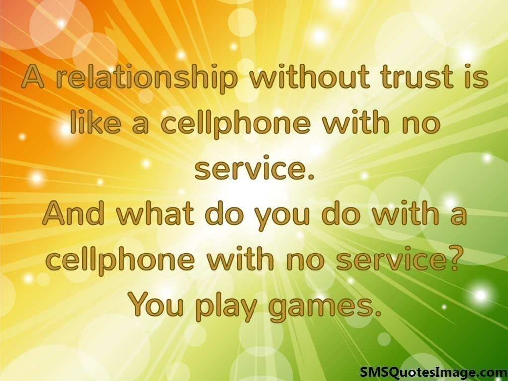 A relationship without trust is - Marriage - SMS Quotes Image