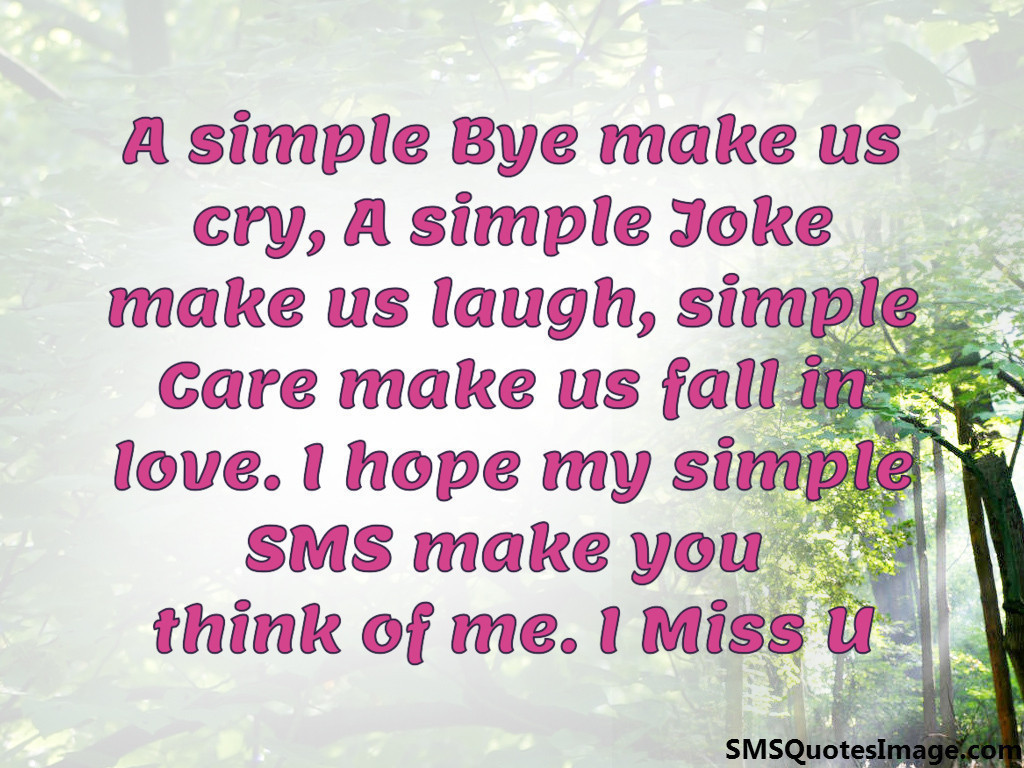 A simple Bye make us cry