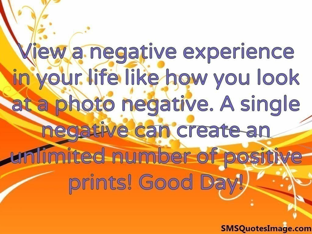 A single negative can create