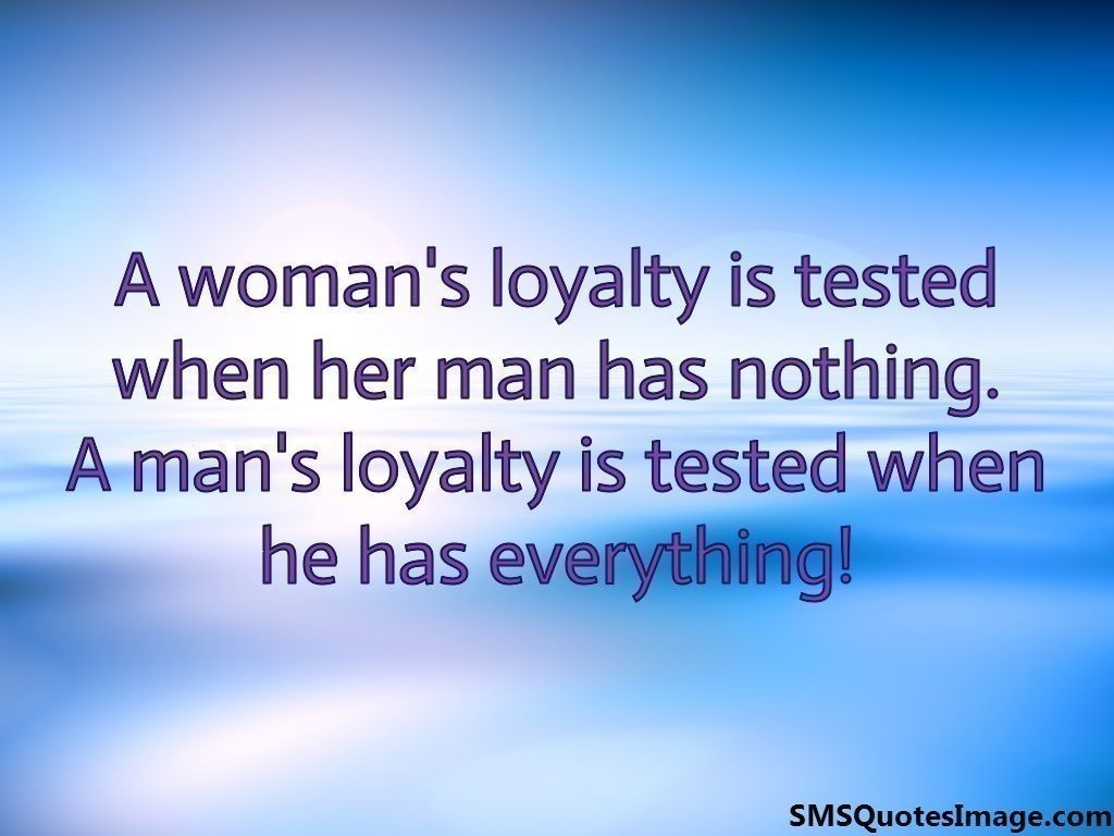 A woman's loyalty is tested when