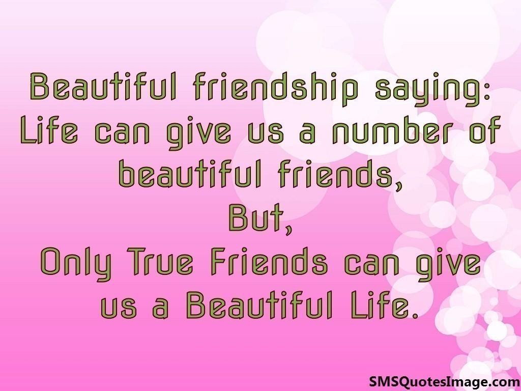 Beautiful friendship saying