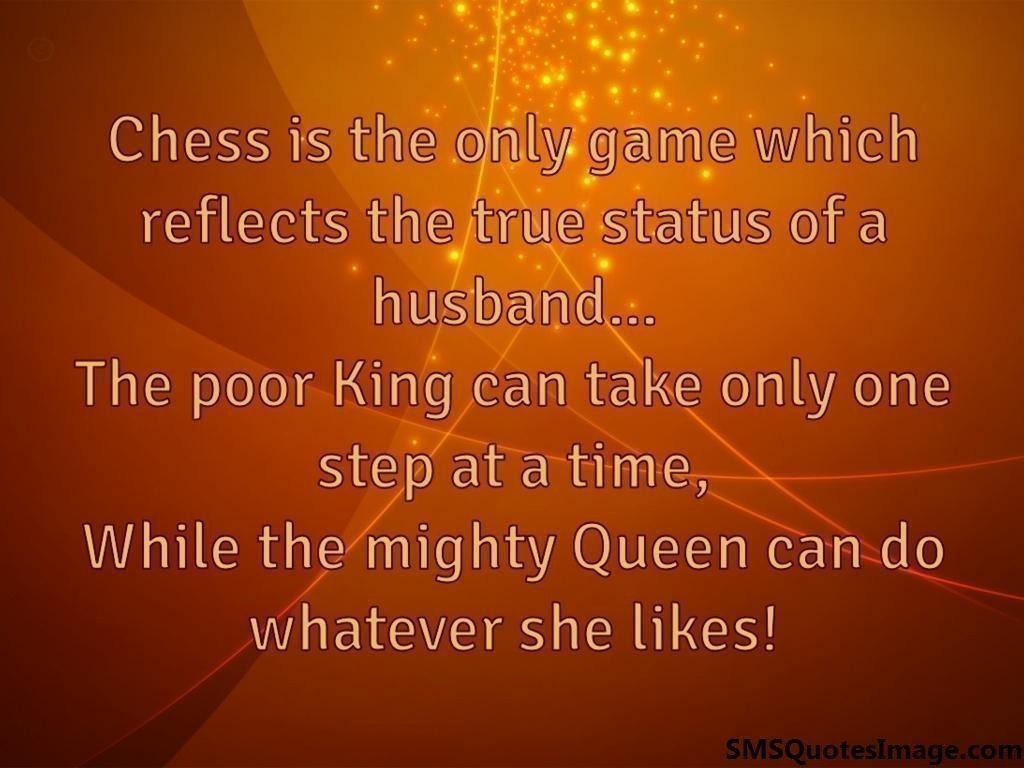 Chess reflects the status