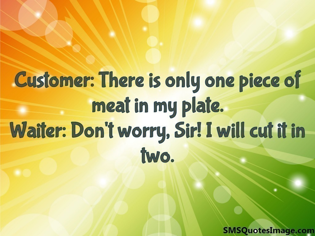 Customer: There is only one piece of meat