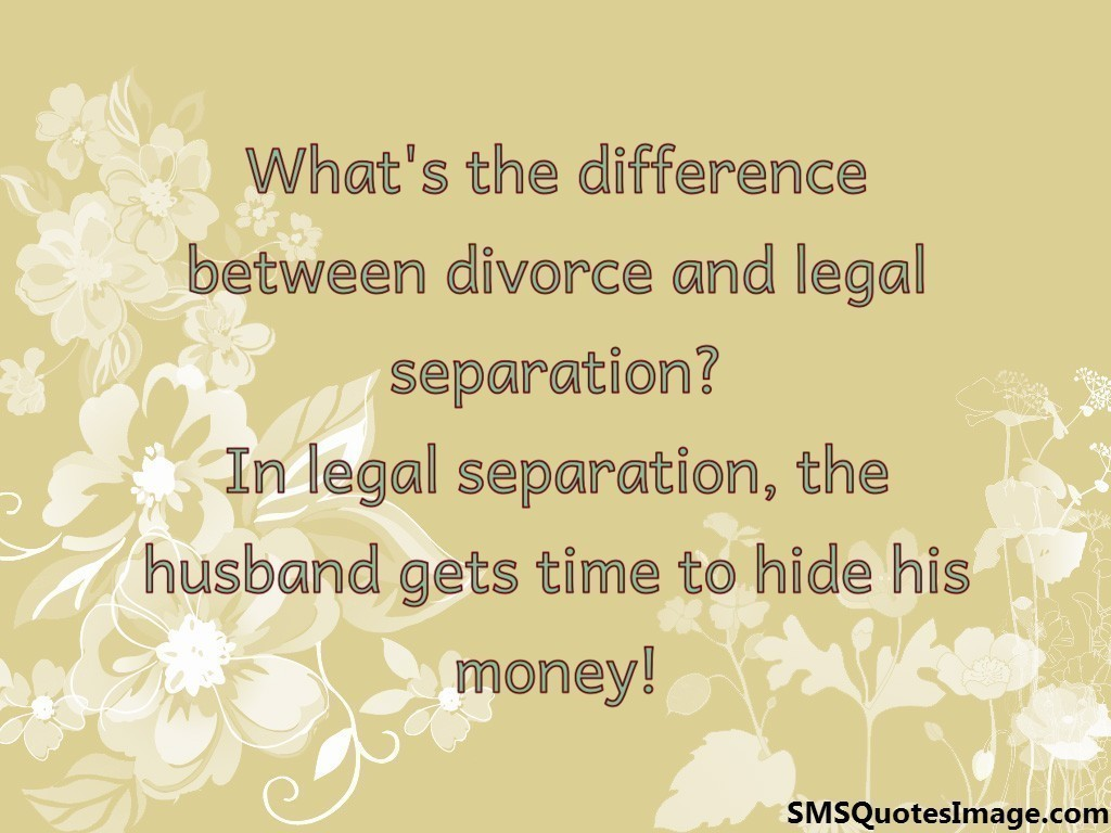Divorce and legal separation