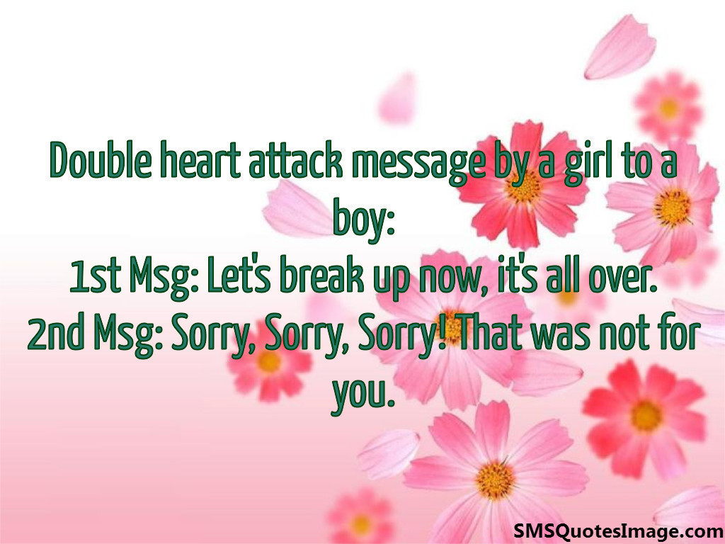 Double heart attack message