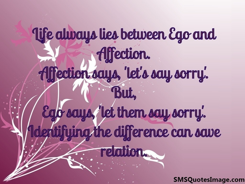 Quotes About Affection Ego And Affection  Life  Sms Quotes Image