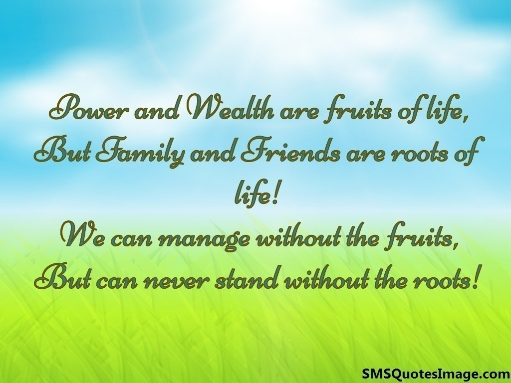 Friends are roots of life