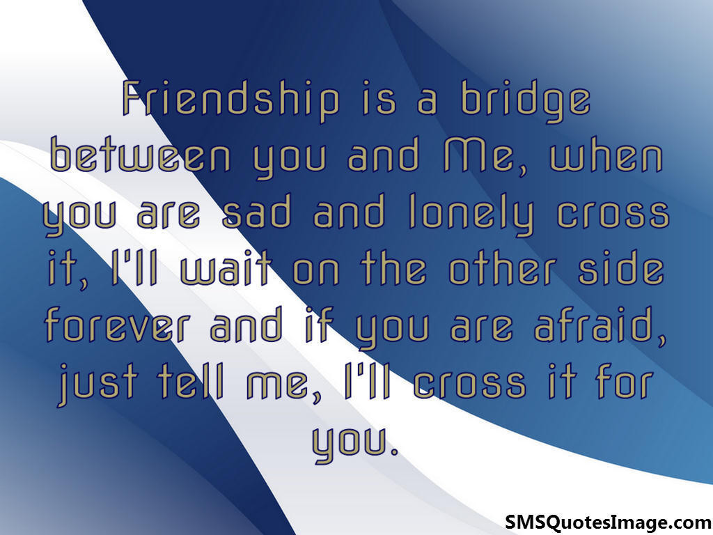 Friendship is a bridge