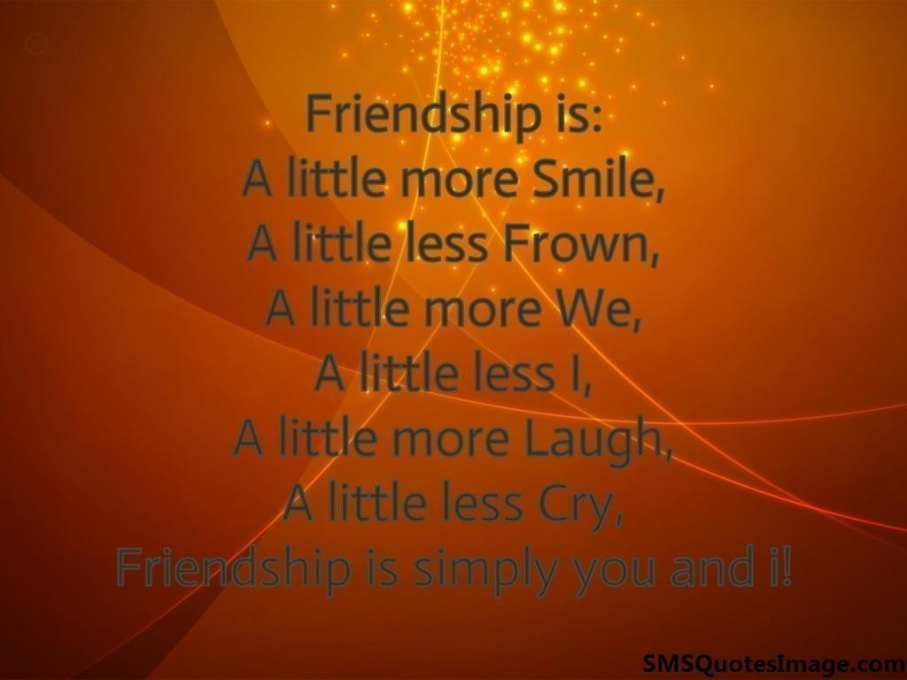 Friendship is simply you and i