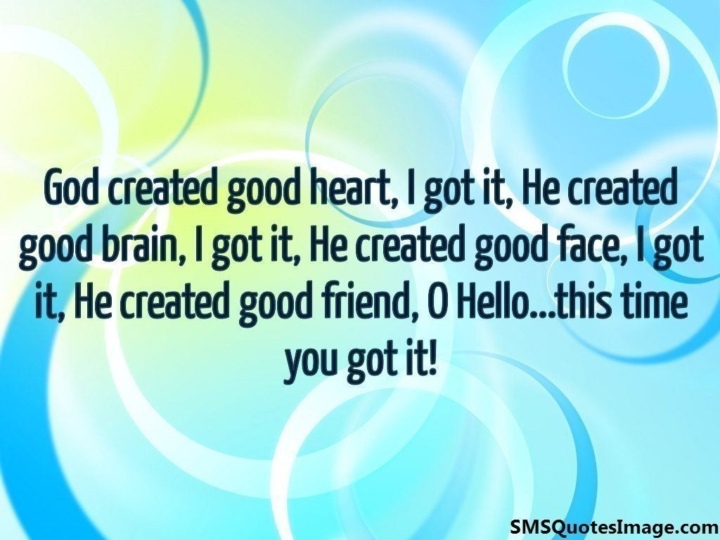 God created good heart