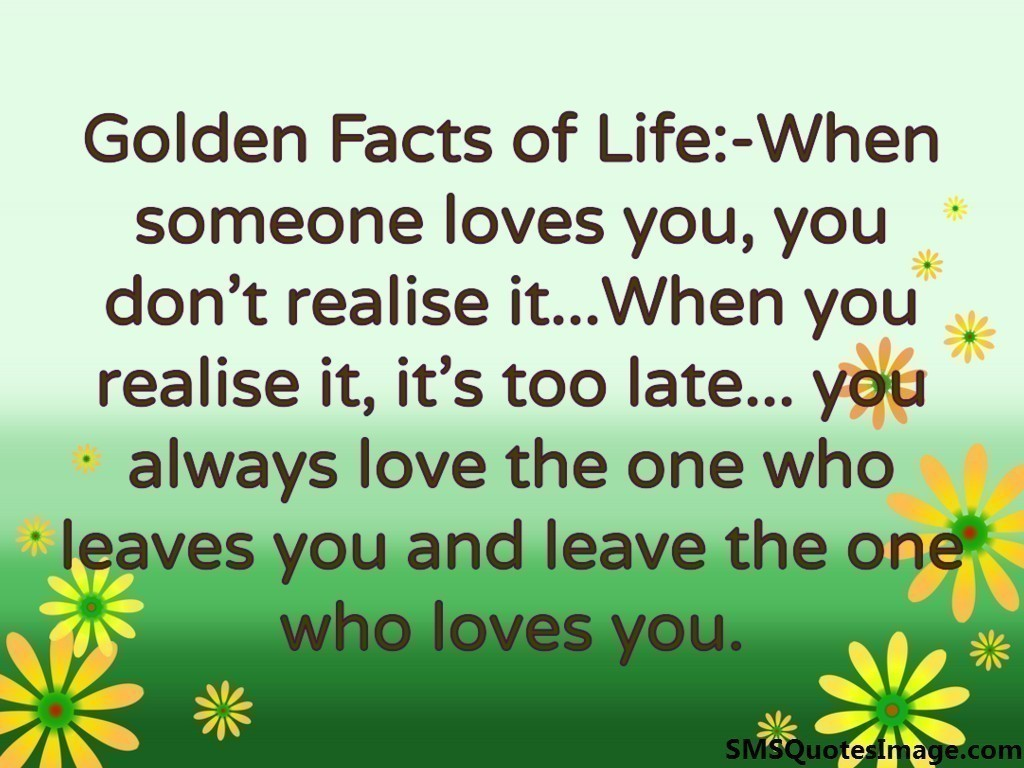 Love Images With Quotes Sms : Golden Facts of Life - Love - SMS Quotes Image