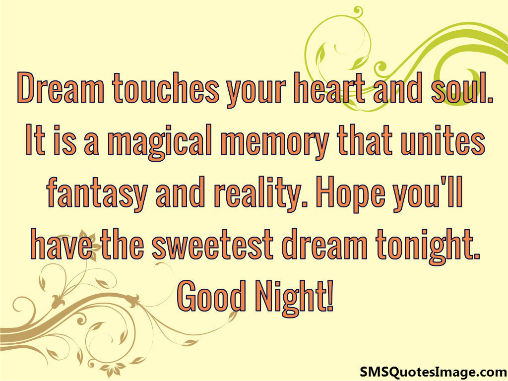 Have the sweetest dream tonight