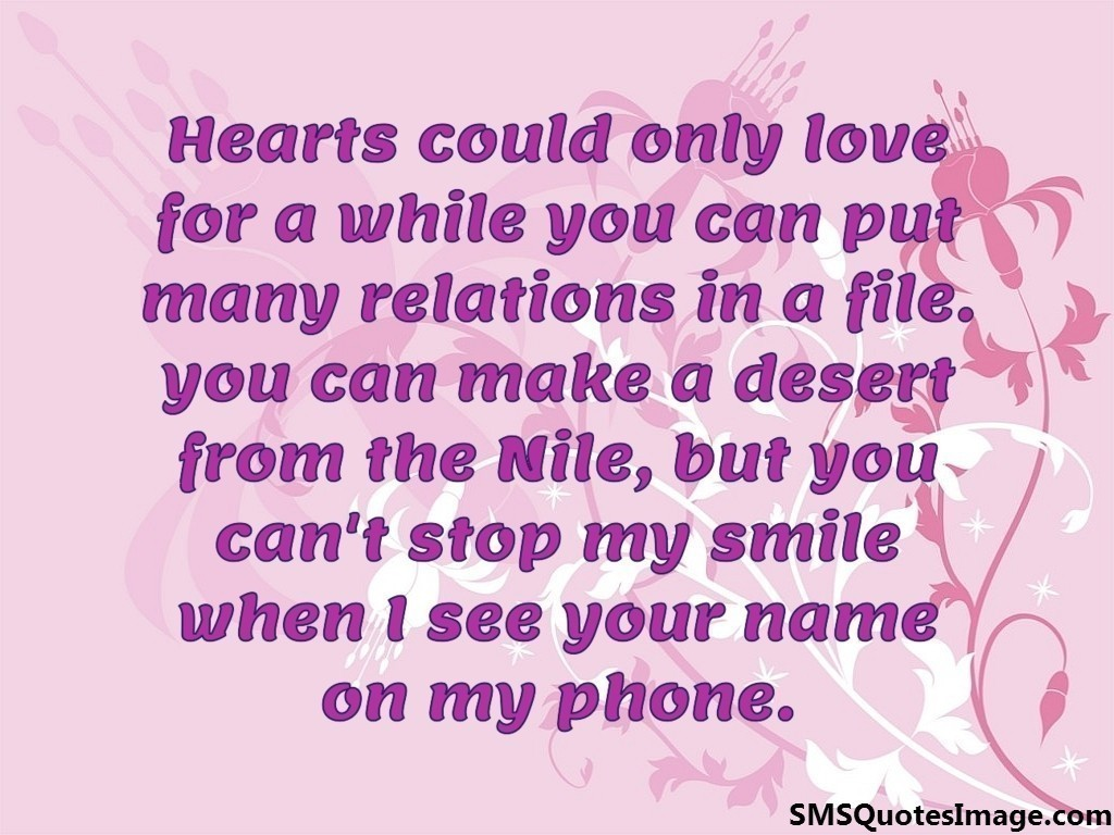 Love Images With Quotes Sms : Hearts could only love for a while - Flirt - SMS Quotes Image