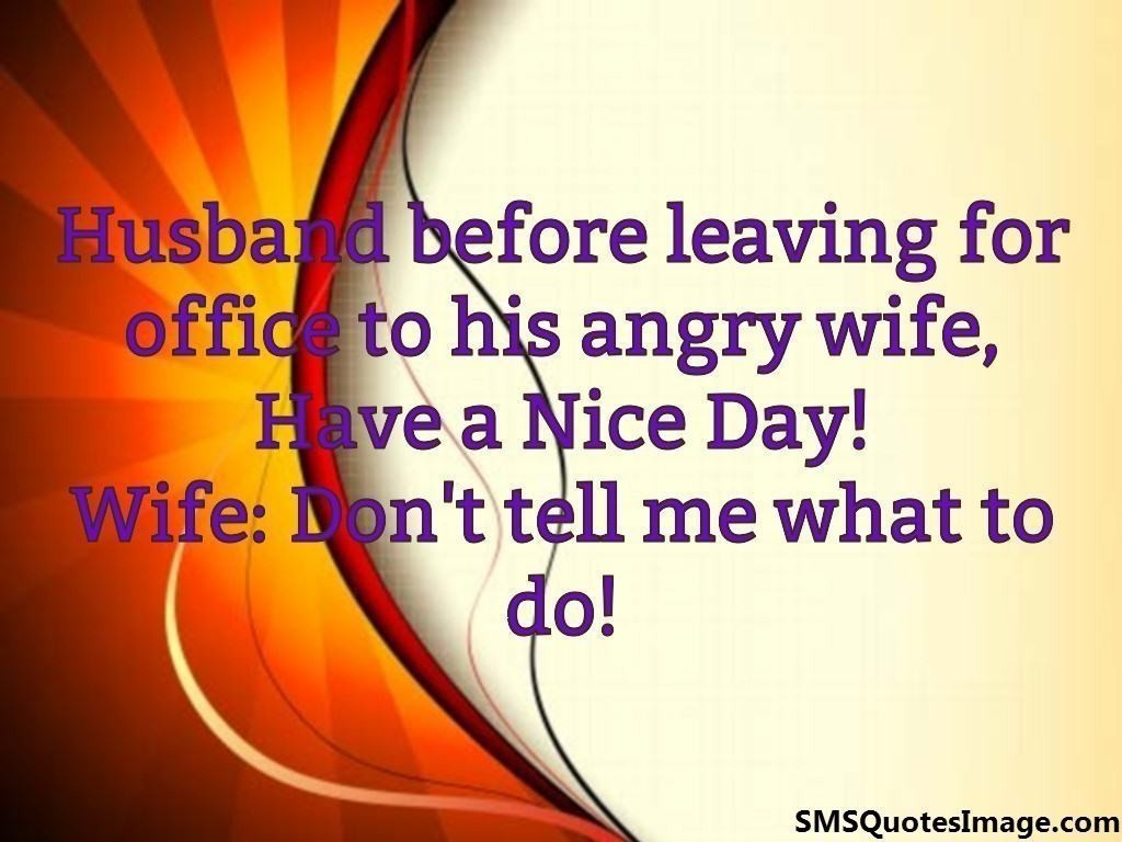 Husband before leaving for office
