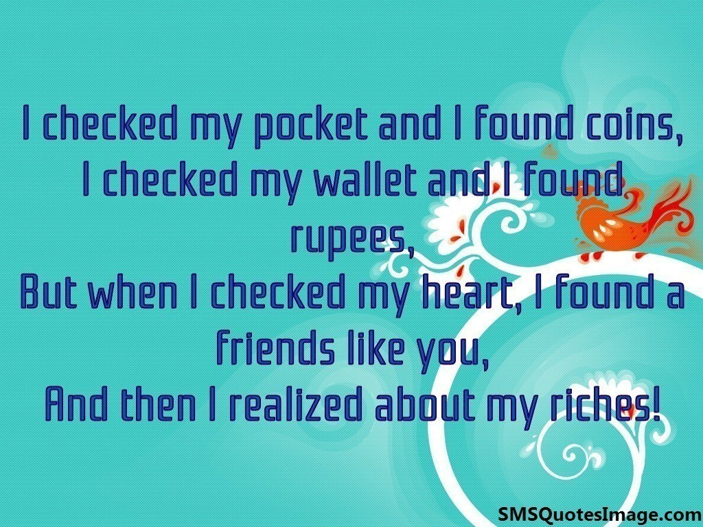 I checked my pocket
