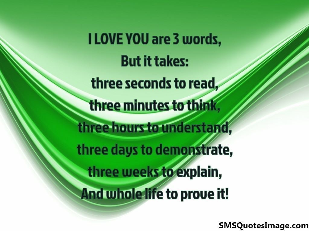 I LOVE YOU are three words