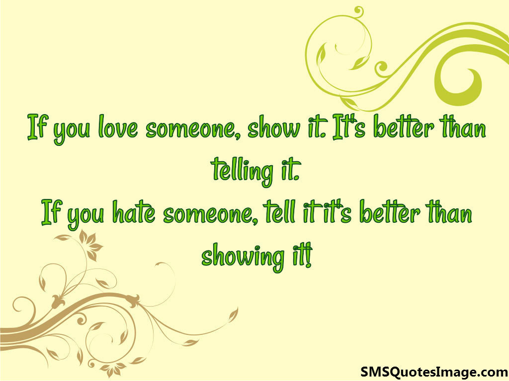 If you hate someone