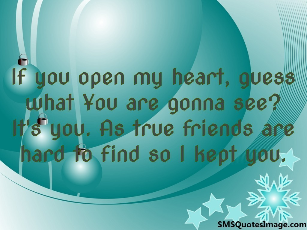 If you open my heart