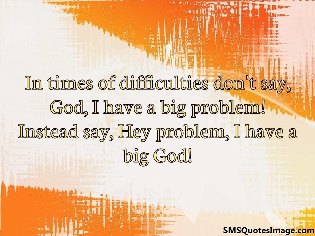 In times of difficulties