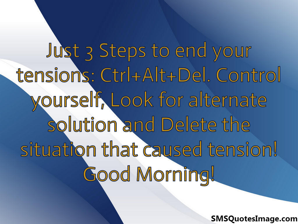 Just 3 Steps to end your tensions