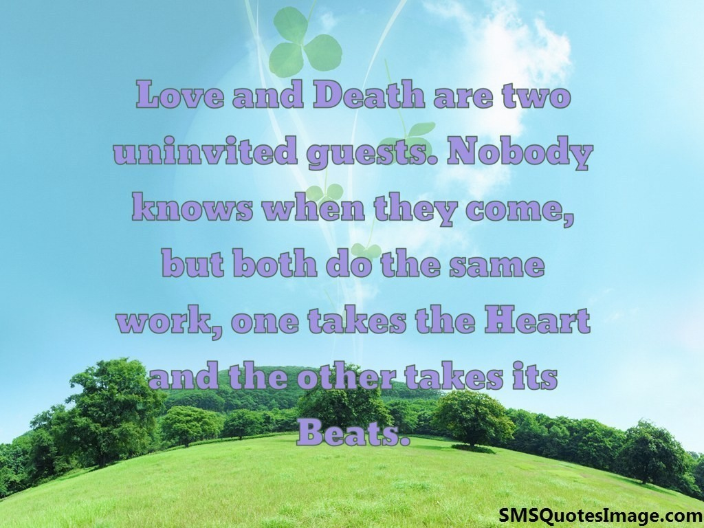 Quotes About Love And Death Love And Death  Wise  Sms Quotes Image