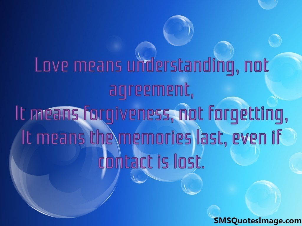 Love means understanding