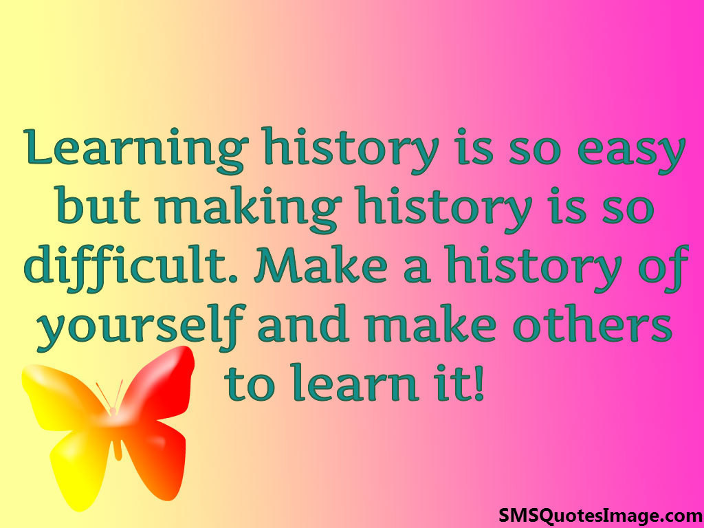 Make a history of yourself