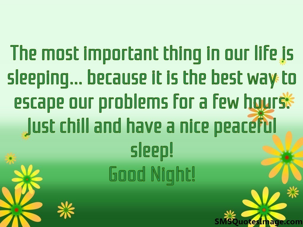 Peaceful Love Quotes Nice Peaceful Sleep Good Night  Good Night  Sms Quotes Image