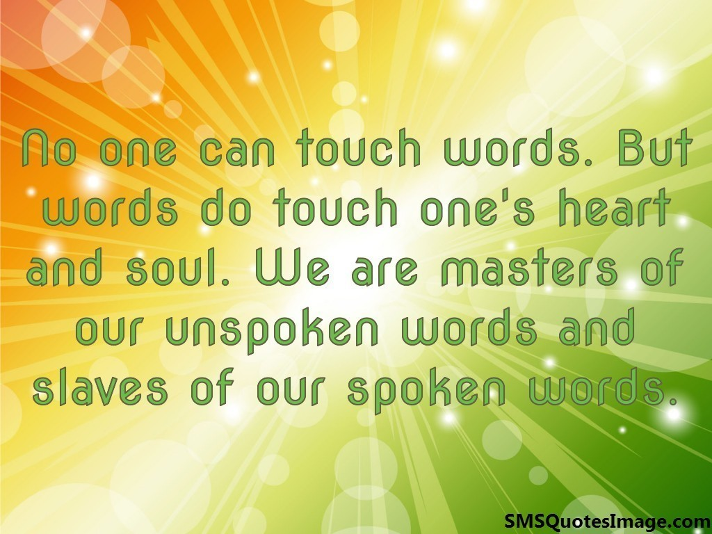 No one can touch words