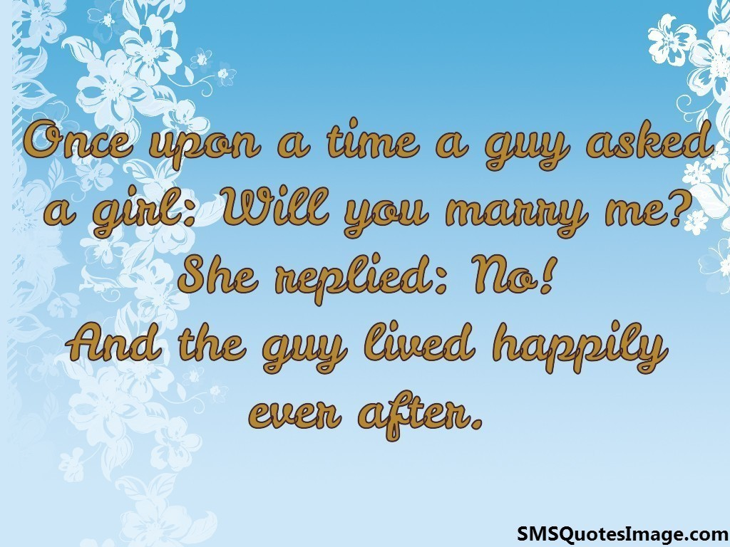 Once upon a time a guy asked