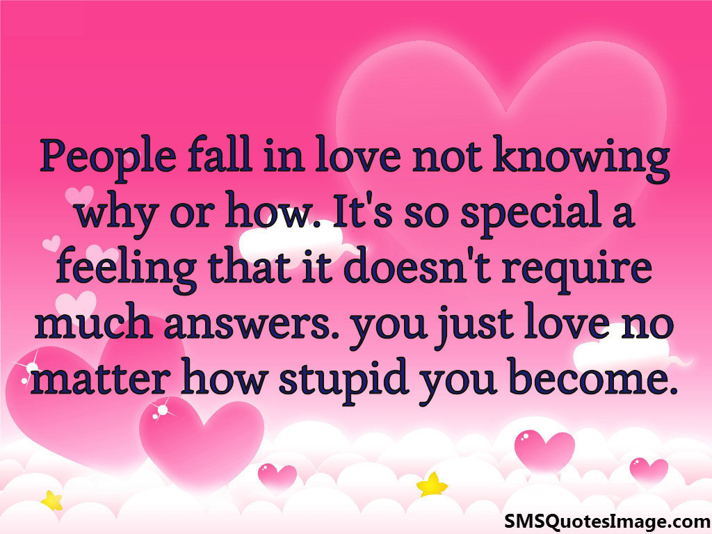 People fall in love not knowing