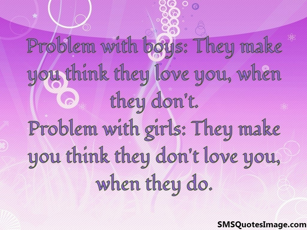 Problem with boys