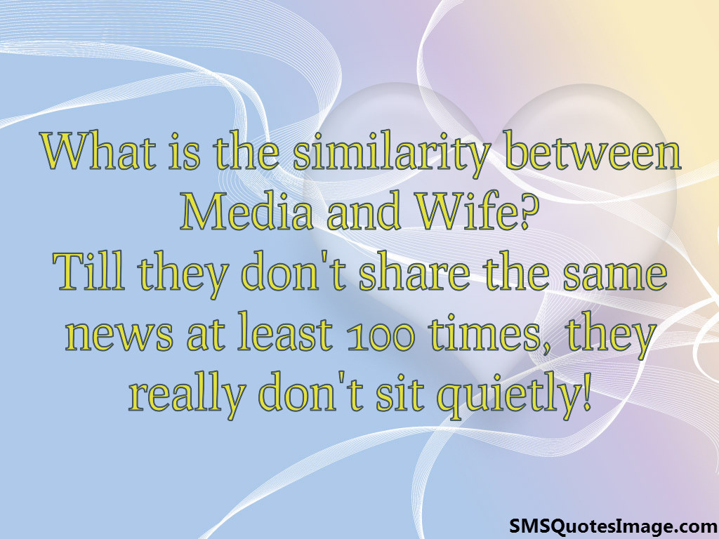 Similarity between Media and Wife