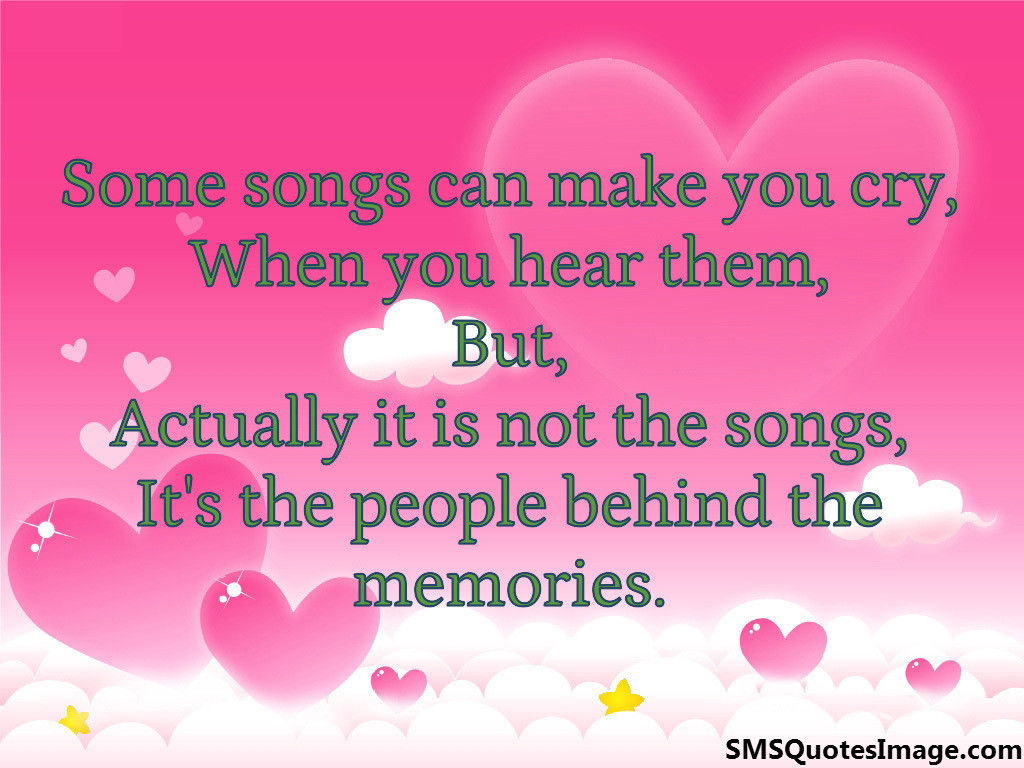 Some songs can make you cry