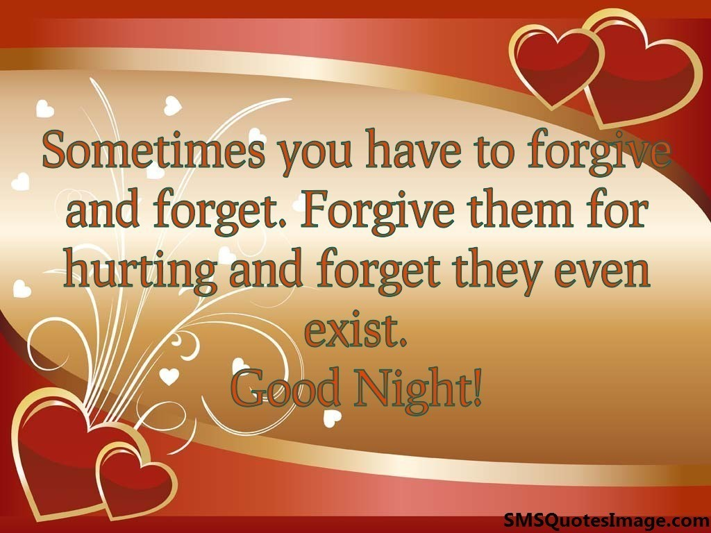 Sometimes you have to forgive